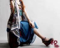 X33 painting 2012 women's the trend of the vest plus size cape chiffon vest national trend kaross