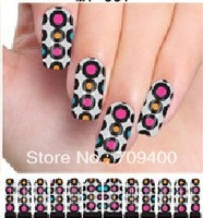 Free shipping  25sheets environmental and healthy water nail decals full cover nail water transfer tattoo sticker 12