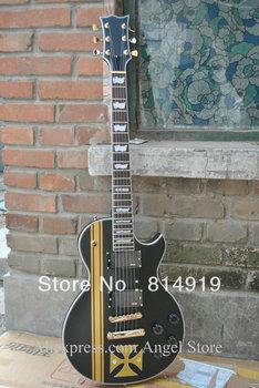 Custon Metallica James Hetfield Iron black matt Electric Guitar Free Shipping