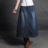 Newest Vintage Fashion casual denim skirts,All-match women's jeans Skirt cotton skirts free shipping Y628
