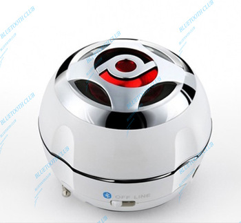 Free Shipping 2 in 1 Mini Stereo Bluetooth Speaker Portable Rechargeable High Quality & with Audio-in For iPhone, iPad, iPod