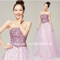 The bride wedding dress fashionable bright drill that wipe a bosom teamed together to accept waist dress