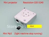 mini music projector support SD card,Mini projector  Resolution-320 X240  +Mini Mp3 (light machine stop running),fFree shipping