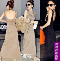 Casual sexy fashion dresses 2013 summer women's b7119 sexy fashion elegant vest one-piece dress full dress
