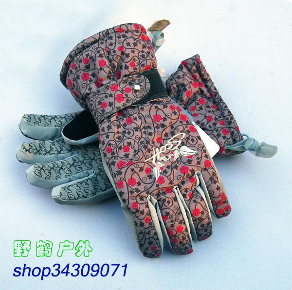 Professional skiing products manufacturer scott Women ski gloves dark color(China (Mainland))