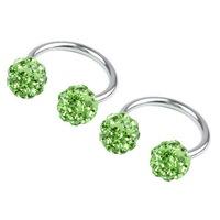 Fashion accessories full rhinestone round ball horseshoe ear buckle ear piercing jewelry