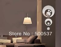 #30 Circle by circle mirror wall decor, TV  mirror sticker home decor wall sticker mirror wall stickers 20PCS/LOT, free shipping