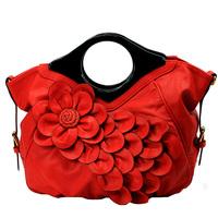 Free Shipping 2014 New Fashion Women's wedding Floral Tote Bag Bride Party Evening Shoulder Messnger bag bridal red handbag