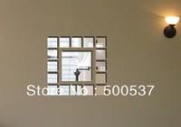 #34 Living room mirror wall decor, mirror sticker home decor wall sticker mirror wall stickers 20PCS/LOT, free shipping