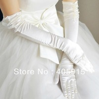 White  wedding Long Gloves