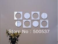 #38 Simple living room mirror wall decor, mirror sticker home decor wall sticker mirror wall stickers 20PCS/LOT, free shipping