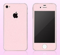 front+Back+bumper Bling Diamond Cell Phone Sticker for iPhone5 (Pink)