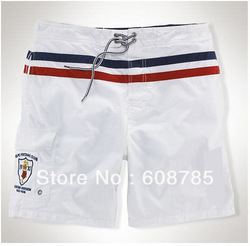 White/Blue2013 Summer New Style Black/white Men's Casual Suit Shorts Loose Fashion Sports Beach Shorts Free shipping B0871(China (Mainland))