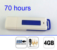 Mini 4GB USB Pen Digital Audio Voice Recorder 70 Hours recording Blue