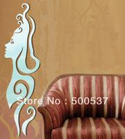#29 beauty face  mirror wall decor, TV  mirror sticker home decor wall sticker mirror wall stickers 20PCS/LOT, free shipping
