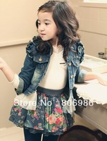 Spring new item for children! Denim jacket for baby girls.