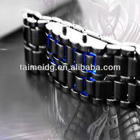 men's design fashionable promotional gift iron samurai new fashion lava led watch