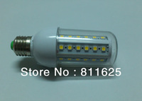 Free shipping 110V/220V 360 degree LED Corn Light E27 E14 8W 44 LED 5050 Warm White CoolWhite led Bulb Lamp with PC Cover