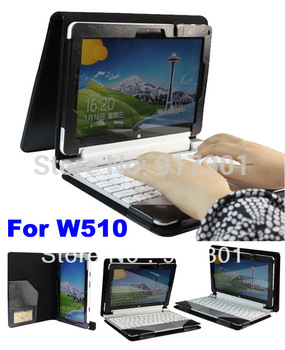 "Brand New Folio Stand Leather case With Keyboard Station Shell Cover Pouch For Acer Iconia Tab W510 10.1"" Tablet +Free shipping"