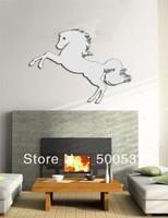 #42 horse shape mirror wall decor, mirror sticker home decor wall sticker mirror wall stickers 20PCS/LOT free ship