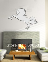 #42 horse shape mirror wall decor, mirror sticker home decor wall sticker mirror wall stickers 20PCS/LOT free ship