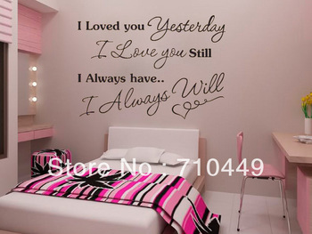 HOLIDAY SALE!!![Stay With You] Love quote vinyl wall decal decorative sticker 1pc retailer
