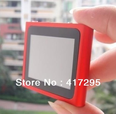 8GB 6th Gen 1.8'' Touch Screen mp3 mp4 player + Wholesale 30pcs/lot + DHL/EMS Free Shipping !(China (Mainland))