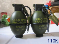 free shipping Painted lighter big grenade - windproof metal model