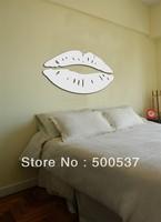 #40 sexy lips bedroom mirror wall decor, mirror sticker home decor wall sticker mirror wall stickers 20PCS/LOT free ship