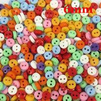 600 Pcs Random Mixed 2 Holes Resin Sewing Buttons Scrapbooking 6mm Diy Garment Accessories