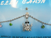 Fashion accessories exquisite titanium umbilical ring belly ring navel button belly chain bee navel piercing