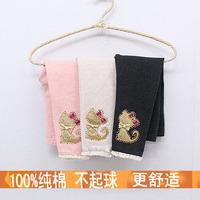 Children's clothing 2014 spring  autumn female child baby cartoon trousers legging cat pants r (5pcs/lot)