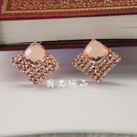 Free shipping Austria crystal earrings casual   female dinner fashion drop earring earrings