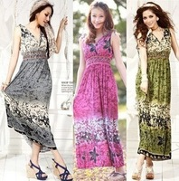 Casual sexy fashion dresses 2013 spring summer bohemia national trend full dress one-piece dress beach dress expansion