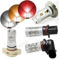 Free Shipping High Power 50W LED Light Bulbs H4/H7/H8/H11/H16/P13W/9005/9006 Car Led Fog bulbs