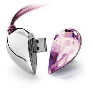 Best selling Pink crystal  usb flash drive 4GB 8GB 16GB 32GB 64GB  Free shipping