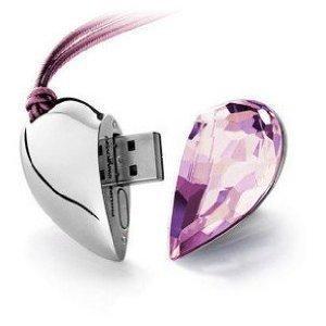 Best selling Pink crystal  usb flash drive 4GB 8GB 16GB 32GB 64GB  Free shipping