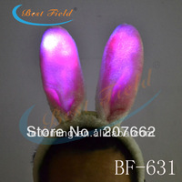 Free shipping 10pcs/lot  3 mode  led sexy pink light up Flashing bunny ears led headwear party supplies