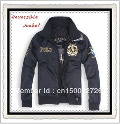 in stock New arrival popular men's original Polo Jacket fashion casual men brands jacket Double face jackets(China (Mainland))