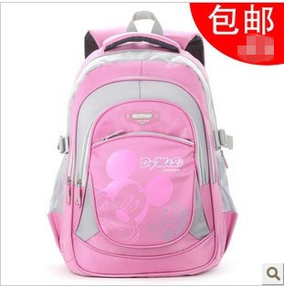 Free shipping Double-shoulder school bag in primary girls burdens male child school bag light waterproof school bag