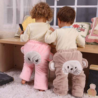 Free shipping 2013 New Arrival autumn and winter baby big PP pants baby trousers children's pants coral fleece warm baby pants