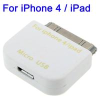 Micro USB Adapter Converter for iPhone 4 4S iPhone 3GS 3G iPad 2 iPad iPod