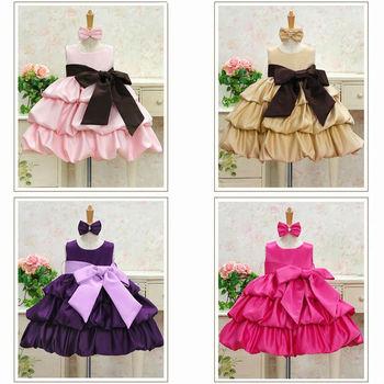 2013 Hot NEW children dress  girls High-grade Princess dress chiffon Big bowknot dresse summer 4pcs/lot 4 color free shipping