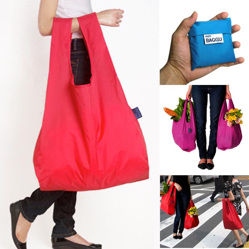 (Min order is $10) Eco-friendly baggu shopping bag eco-friendly shopping bag folding storage bag grocery bags e167(China (Mainland))