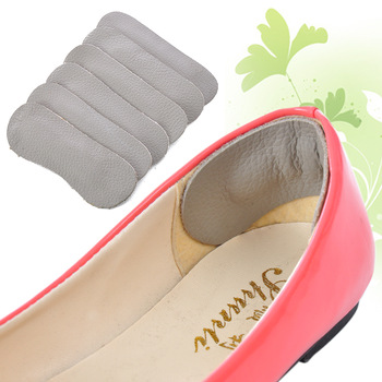 (Min order is $10) Rearfoot cowhide stickers genuine leather thickening heel pad insole a pair of d989