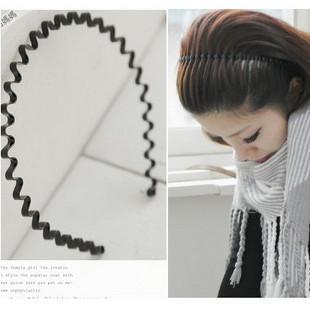(Min order is $10) Elegant hair accessory candy color ultra elastic wavy hair bands hair pin headband general c010(China (Mainland))