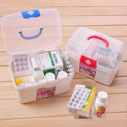(Min order is $10) Health care multi-purpose multi-layer pyxides kit home first aid kit Medium medicine box a102(China (Mainland))