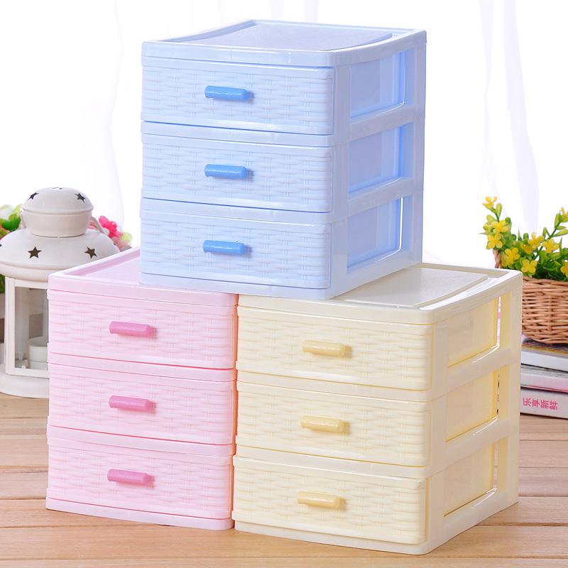 (Min order is $10) Plastic drawer storage box storage box finishing cabinet desktop storage cabinet e029(Chi