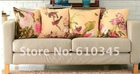 Wholesale - Free shipping Chinese art printing suede fabric pillow cover cushion cover 45X45CM 4pcs/lot T035