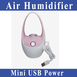 Free Shipping mini USB power basket style air humidifier Suitable for car/bedroom/offlce and etc.(China (Mainland))